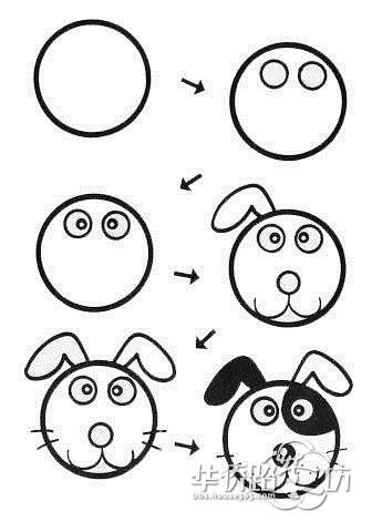 实用的简笔画教程,应付熊孩子的必备技能get√