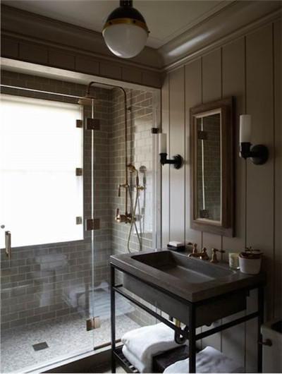 昶卓设计】超级酷炫的工业风浴室-南京装饰设计公司