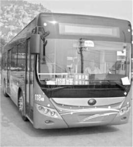 淮北首辆新能源公交车正式亮相