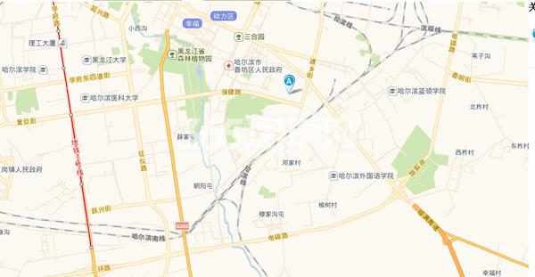 香林名苑交通图