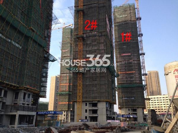 宝龙城市广场1#、2#楼工程进度图(2015.2)
