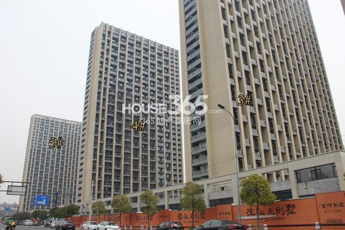 2015年3月底中天官河锦庭项目实景--3、4、5号楼
