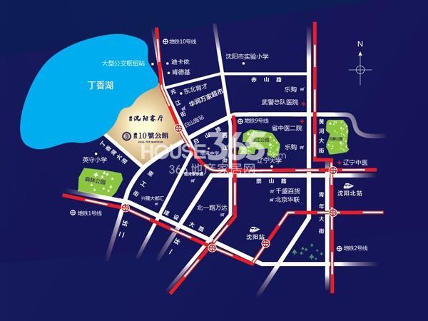 卓尔10号公馆交通图
