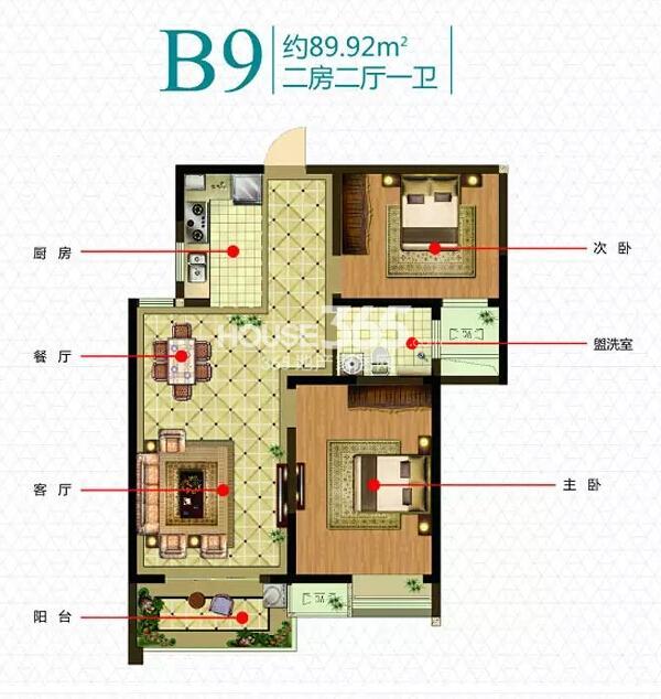 新加坡尚锦城B9户型图