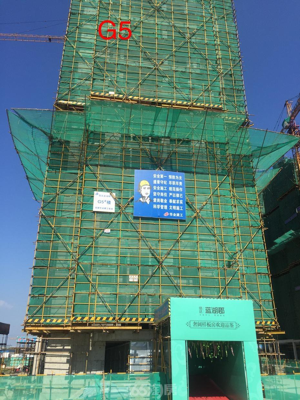 信达蓝湖郡最新工程进度(2015年8月摄)