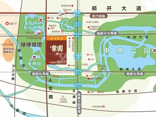 名门紫园交通图