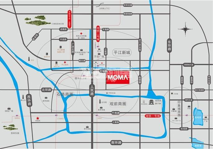 当代万国府MOMΛ交通图