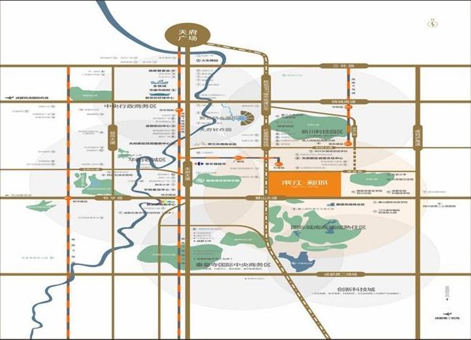 滨江和城交通图
