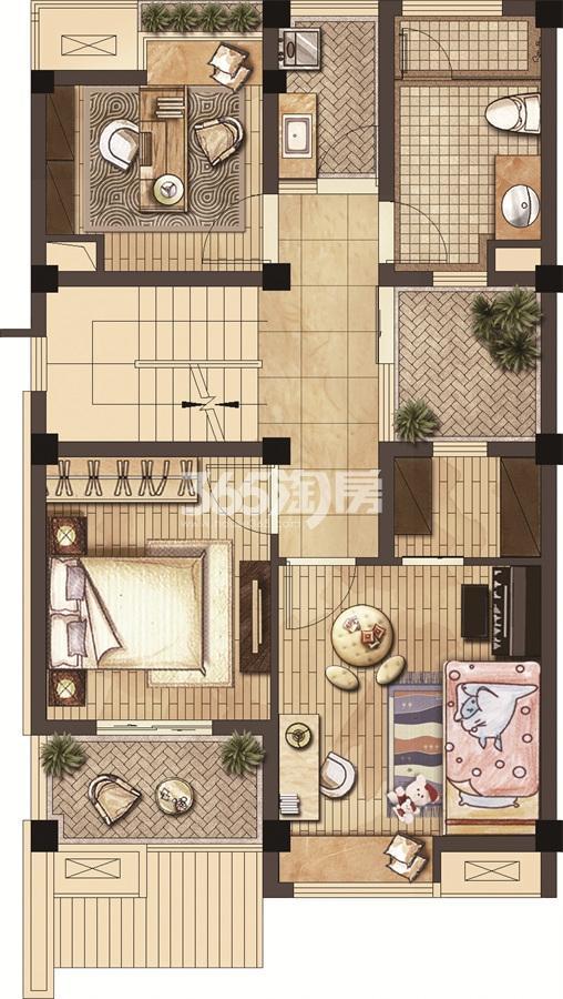武夷绿洲沁荷苑H2二层平面图
