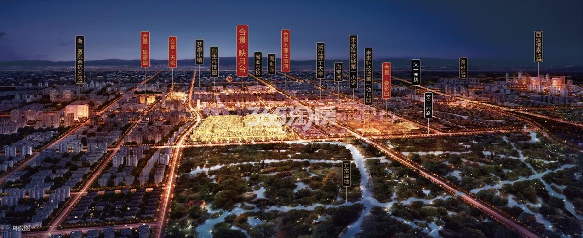 合景映月台项目整体交通区位图