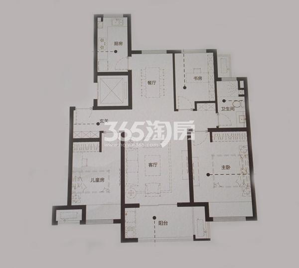 Y2-1三室两厅一卫户型