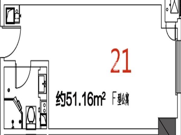 21户型51.16平米