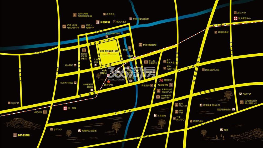 万通时尚公馆交通图
