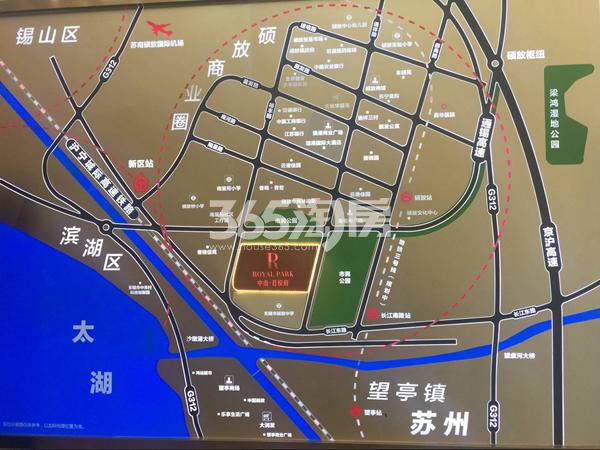 中南君悦府交通图