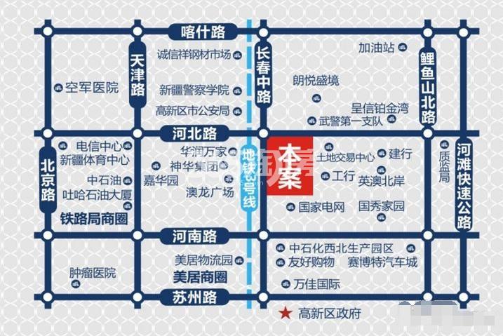 上海大厦交通图