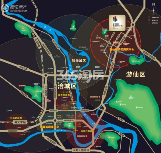 红星美凯龙·商铺交通图
