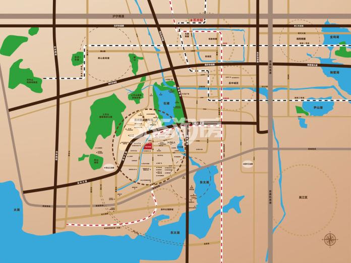 绿景苏州公馆交通图