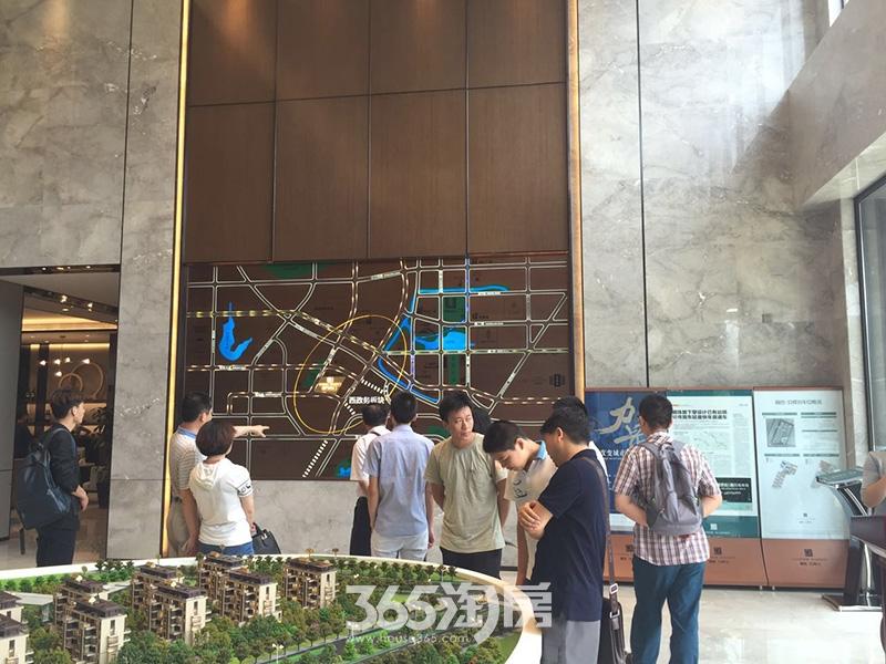 融创玖樟台售楼部区域图实景图(2017.7)