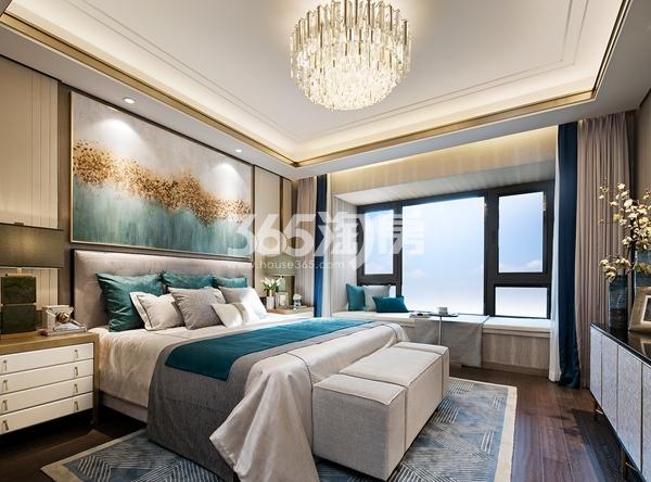 绿地西水东中央生活区W公馆194平样板间卧室