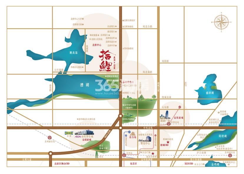 禹洲招商·拾鲤交通图