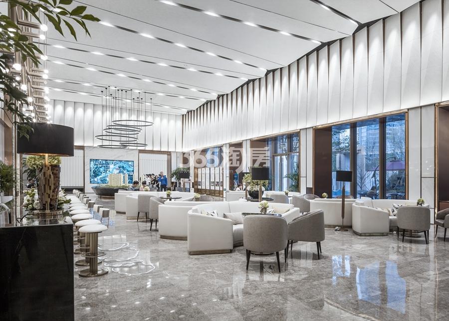 融信保利创世纪售楼处接待处实景图 2017年9月摄