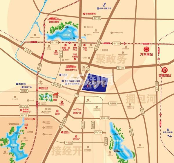 中辰优唐广场项目区位图