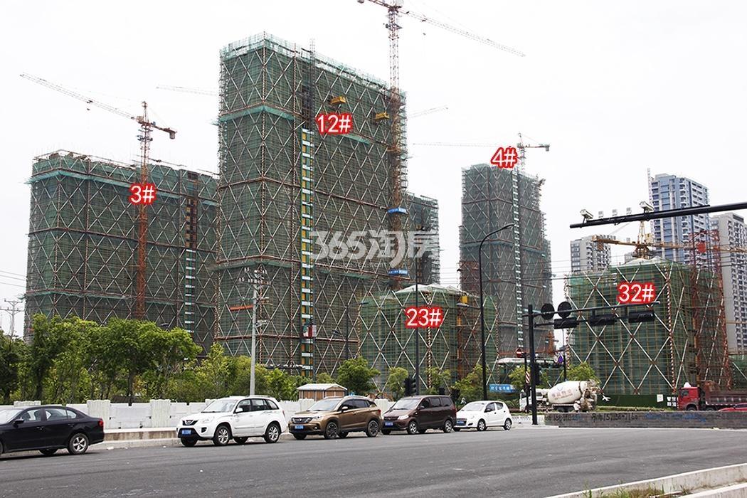 2018年7月融信澜天高层3、4、12号楼及洋房23、32号楼实景
