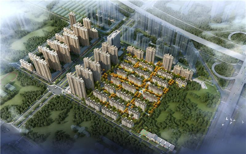 世茂璀璨倾城项目鸟瞰图