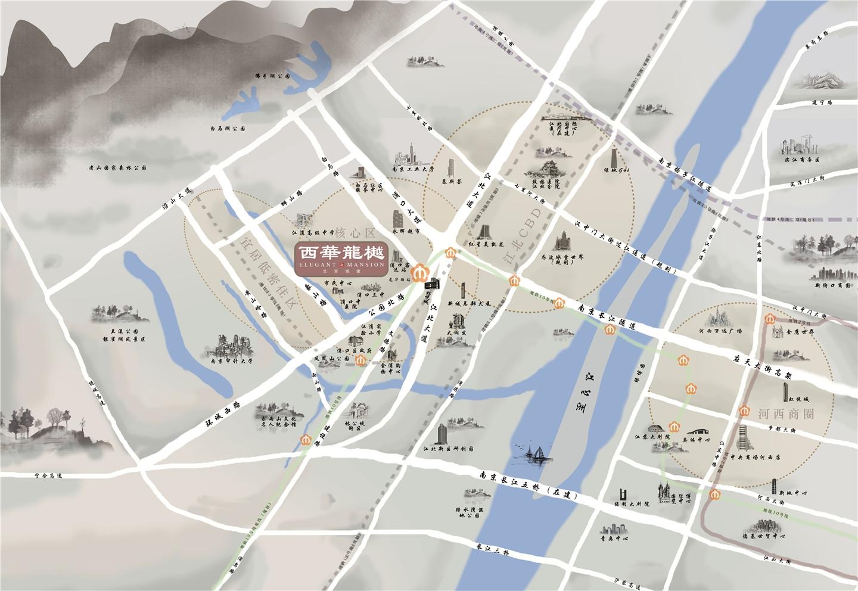 北京城建西华龙樾交通图